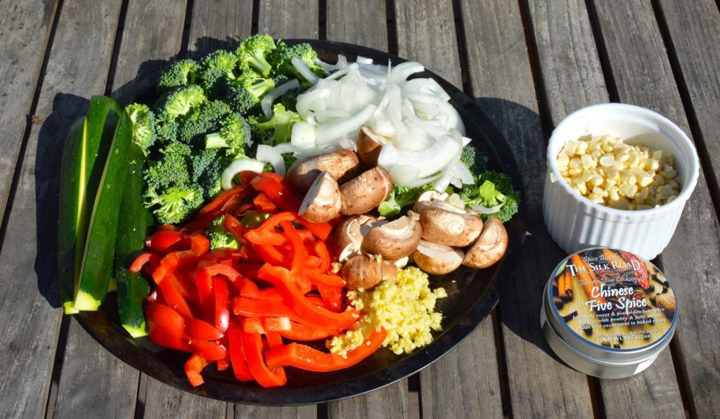 Backyard Stir Fried Veggies Done On The Grill