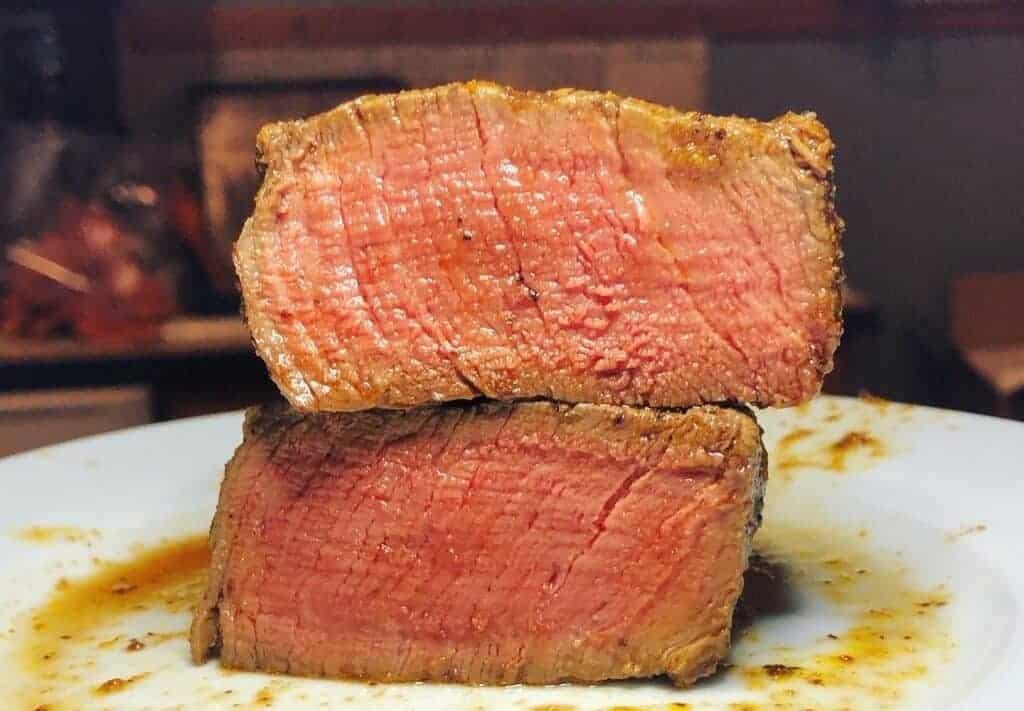 steak cooked in air fryer