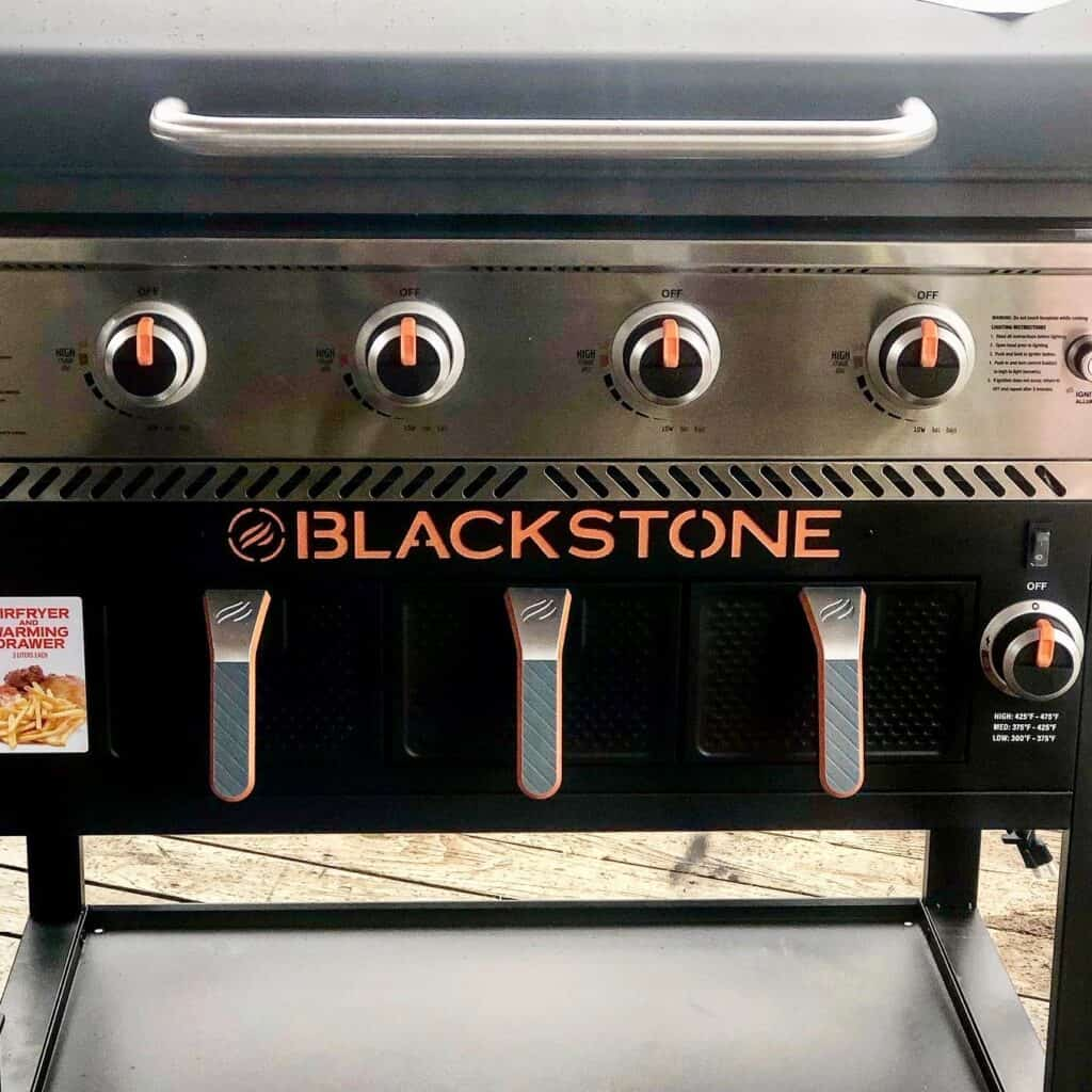 Blackstone Air Fryer Combo Griddle air frying drawers