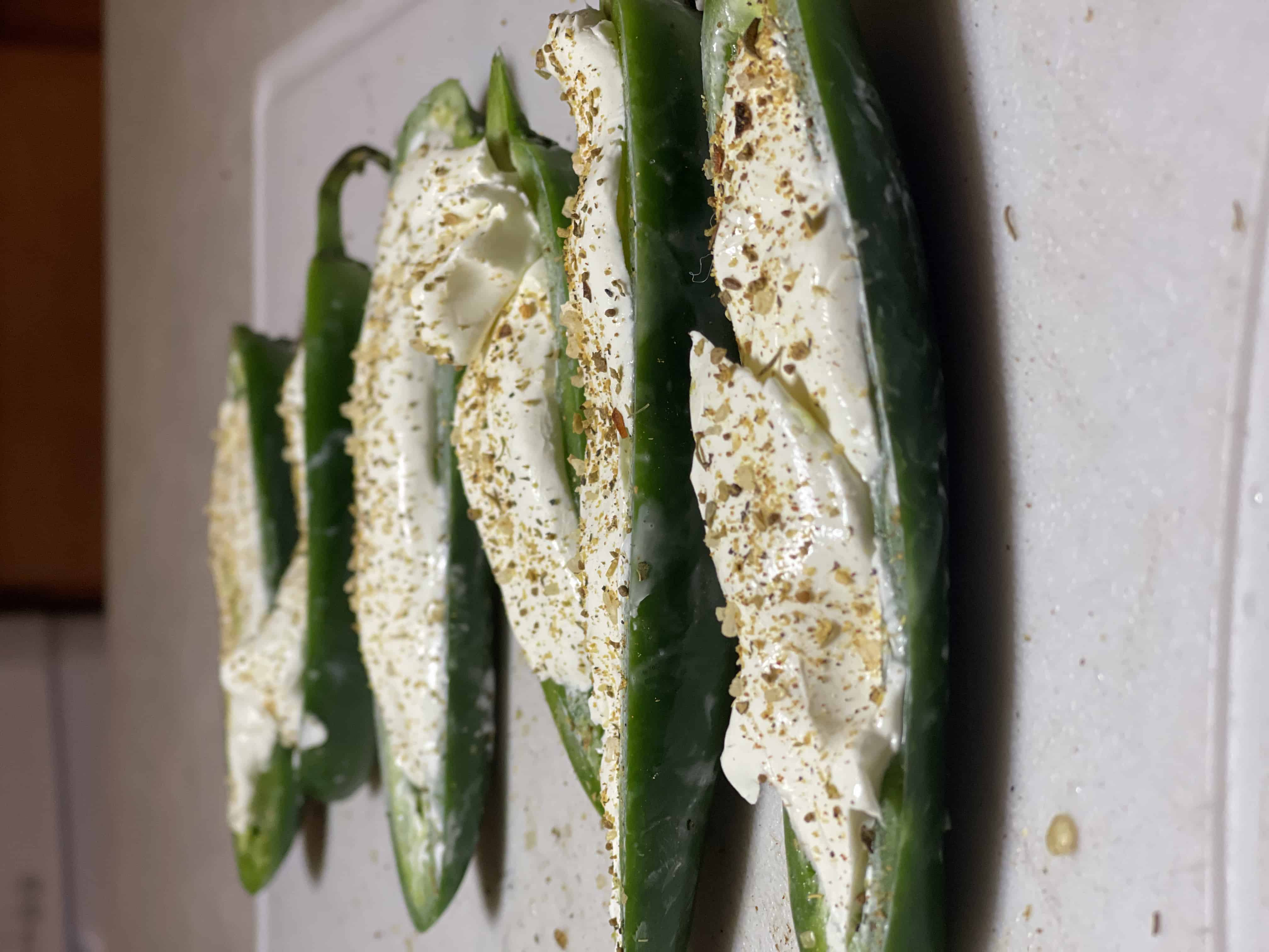 jalapeno stuffed with cream cheese and coated with bbq seasoning