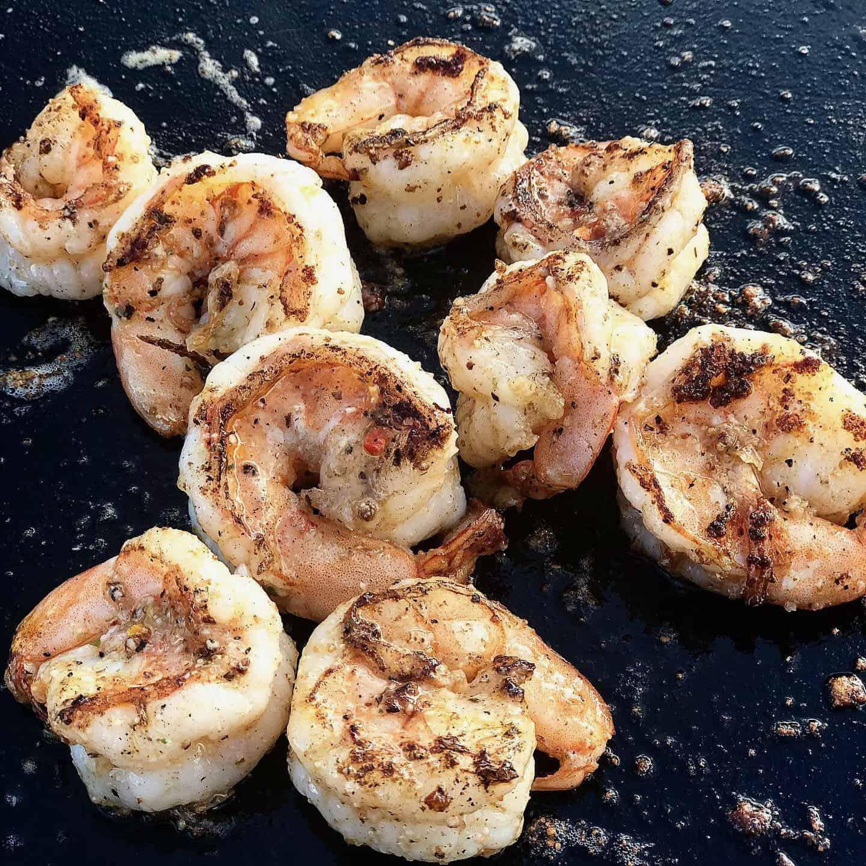 shrimp on blackstone griddle